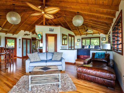 Photo for 23 Acre Estate, Ocean and Sunset Views, Hot Tub, Private Beach Access, Jungle!