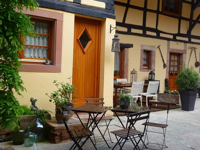 Photo for Furnished with charm, wine route, at the foot of Haut-Koenigsbourg - Le Puits