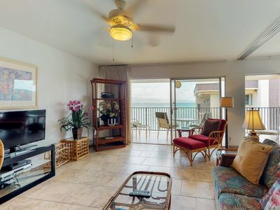 Photo for NEW LISTING! Oceanfront condo w/amazing balcony views, shared pool, near beach
