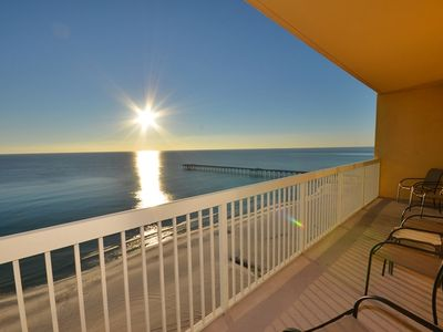 Photo for Amazing views!  3 bed/2 bath condo located next to Pier Park-Free Beach Service