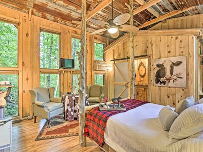 Photo for NEW! Intimate Treehouse Retreat for 2 by Mentone!