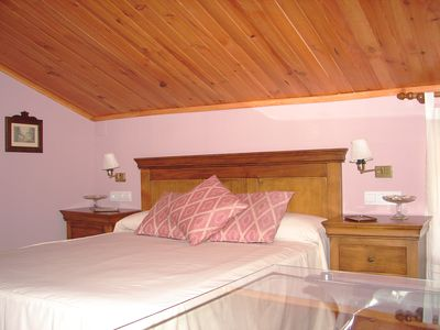 Photo for Shared Garden of French rural accommodation, bedroom loft