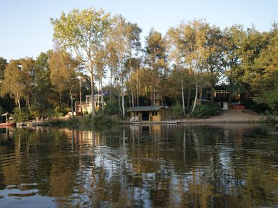 Photo for Luxury villa with private forest and -beach to fishpond