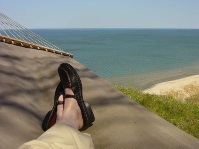Relaxing on the bluff, enjoying the view!