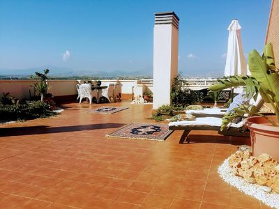 Photo for Spacious and bright Duplex Penthouse with large terrace with barbecue Playa de San Juan