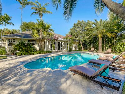 Photo for Designer Renovated Tropical Paradise In Lake Ida Delray Beach W/ Heated Pool