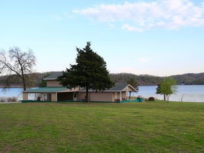 Photo for Beautiful 5 Bedroom Waterfront House on Grand Lake - Private Dock - Boat Ramp