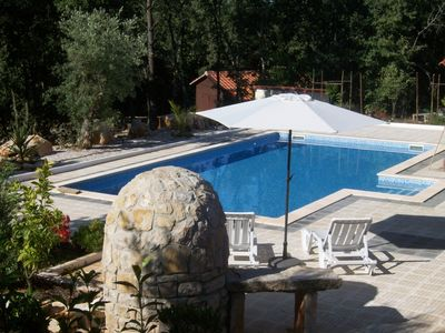 View to the 10x5 Pool area with ample sunbathing area