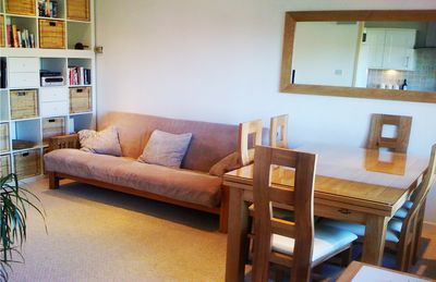The welcoming and cosy lounge and dining room