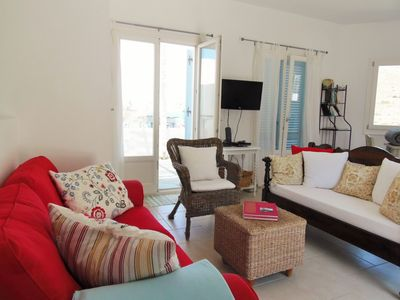 House 1: enjoy fabulous sea views from the sofa/lounging area