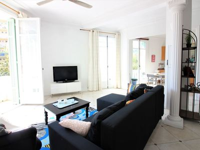 Photo for Spacious Apartment 4 Rooms in Town with Garden & Parking 300 Meters Beaches