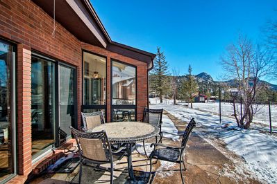 This home for 8 sits minutes from Rocky Mountain National Park.