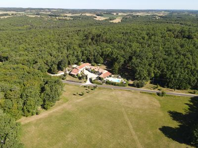 Photo for Secluded Luxury country house with covered terrace, Private pool,   ,games room