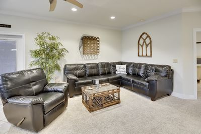 Spacious Living Area offers plenty of comfortable seating
