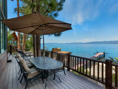 Photo for 2201 Cascade Road - Heaven On Earth - Pier and 2 Buoys - Awesome Lakeviews - Huge Deck