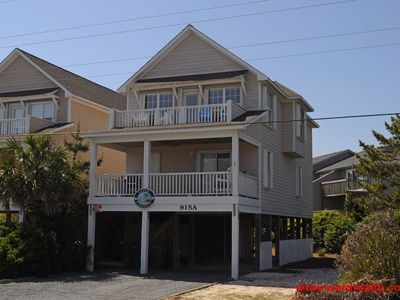 Photo for Nicely decorated 4 BR 2nd Row home with Ocean Views from Sun Deck - Gone Coastal