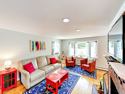 Photo for Walk to Main Street! Updated 3BR w/ Fenced Yard, Fire Pit - Minutes to Beach