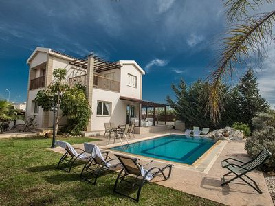 Photo for Villa Aspro Dyo - Lovely 3 Bedroom Ayia Thekla Villa with Private Pool and Sea Views