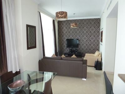 Photo for Spacious Fully Serviced 1 Bedroom Apartment, Dubai Marina, end of JBR