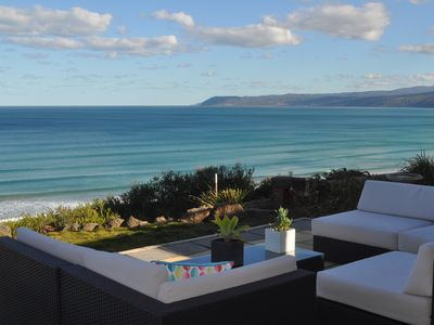 Photo for Fantastic Beachfront views, 3min walk beach/surf club incl Linen Wifi Netflix