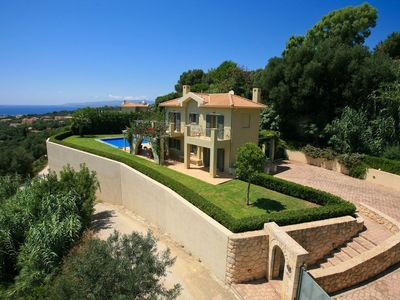Photo for Private luxury Villa with private HEATED pool of 45m2 with Jacuzzi, Outdoor BBQ and Stunning Views