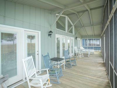 Photo for Oceanfront home on East side of Sunset Beach!
