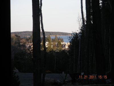 Photo for Wooded Cottage in Town with Ocean View,walking to Marina, Restraunts