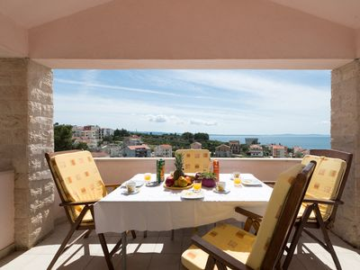Photo for Sunny apartment near Split  with great seaview