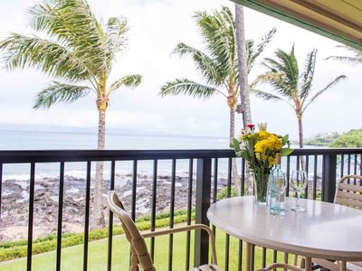 Photo for Direct Oceanfront - steps to Napili Bay - Oceanfront Lanai - Napili Shores I -273