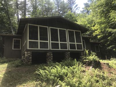 Photo for Cozy Private Cottage on Loon Lake with two private HOA beach access points