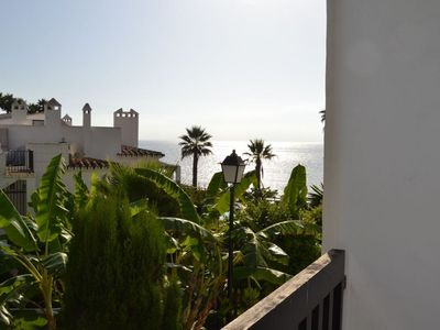 Photo for Front Beach Mijas apartment in Mijas with WiFi, air conditioning, private parking, private terrace …