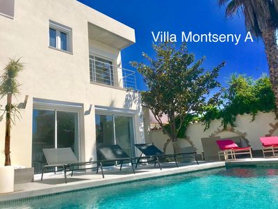 Photo for BEAUTIFUL 5 BEDROOM HOLIDAY VILLA WITH LARGE HEATED POOL AND WIFI IN MONTSENY