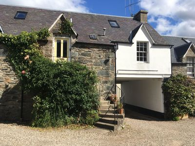 Photo for Quirky Cottage in Birnam near arts centre & Dunkeld, sky tv, parking, pets allowed, walks a plenty