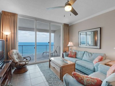 Photo for Two Bedroom Plus Bunk Room Beachfront Second Floor Condo Directly on the Gulf