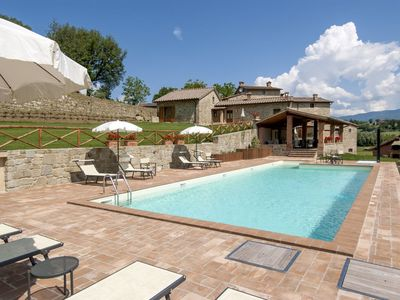 Photo for Villa with 12 bedrooms - Poppi  Villa Filly is a typical Tuscan farmhouse finely restored, situated in
