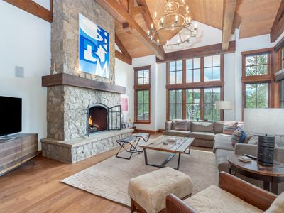 Photo for Impeccably detailed alpine escape with 4 bedrooms, 5.5 bath, hot tub, game room - True Ski in and ou