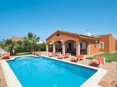 Photo for 3 bedroom Villa, sleeps 6 in Cap d'Artrutx with Pool, Air Con and WiFi