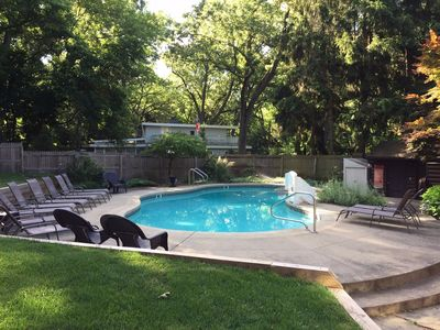Photo for 6 BR property w/ private pool - 900 feet away from Lake Michigan beach!