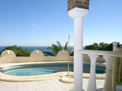 Photo for Villa with Private Pool, Stunning Sea Views, close to the beach, air con, Wifi