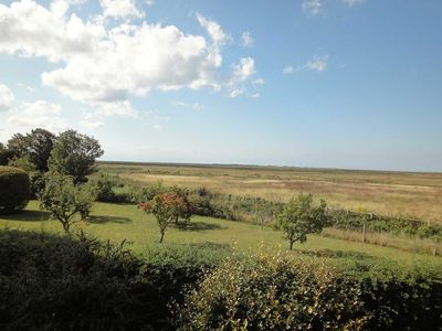 View from the terrace out to Blakeney Point