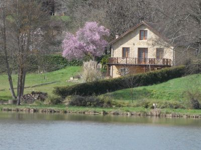 Photo for House on Lake Grolejac, near Sarlat, Dordogne, France