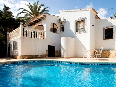 Photo for This 2-bedroom villa for up to 4 guests is located in Calpe and has a private swimming pool, air-con