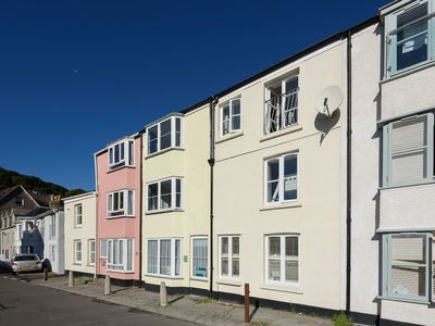 Photo for Seafront House Overlooking Looe Beach. Reserved Parking Space 1 minute walk!