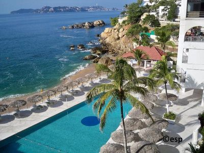 Your place in the Acapulco sun is here! Cabana, pools, palapas,  snorkle beach