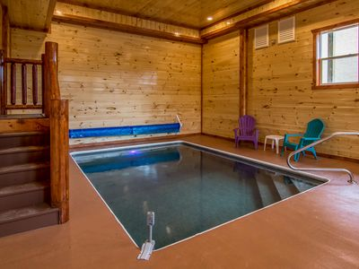 Beautiful Newly Built Cabin - Private Indoor Pool, Home Theater, and Game Room.