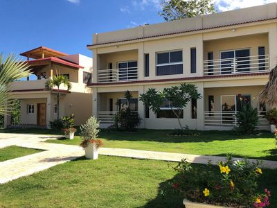 Photo for Quiet 2BD guest-friendly villa with pool in downtown Sosua