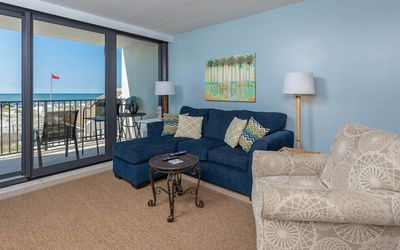 Photo for BEACH FRONT! 2 Bedroom at Island Winds West! 1st Floor