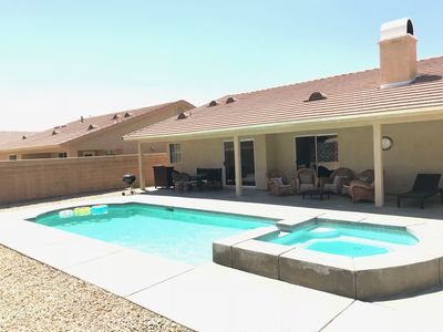 Photo for 4BED/2BA SALTWATER POOL & SPA, MOUNTAIN VIEWS, PRIVATE, SPACIOUS, OUTDOOR LIVING