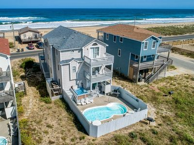 Photo for Guaranteed Fun   60 ft from the Beach   Private Pool, Hot Tub   Kitty Hawk