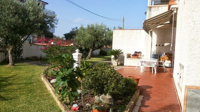Photo for Quiet, well maintained apartment surrounded by olive trees, 400m from the sandy beach